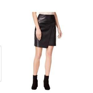 Moto Skirt: Black Asymmetrical front Size Med. NWT